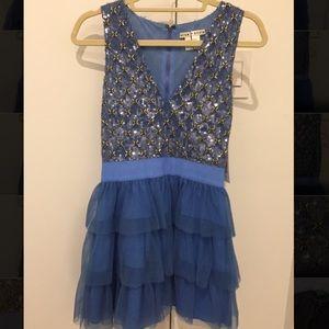 New Alice + Olivia Sequin Embellished Dress